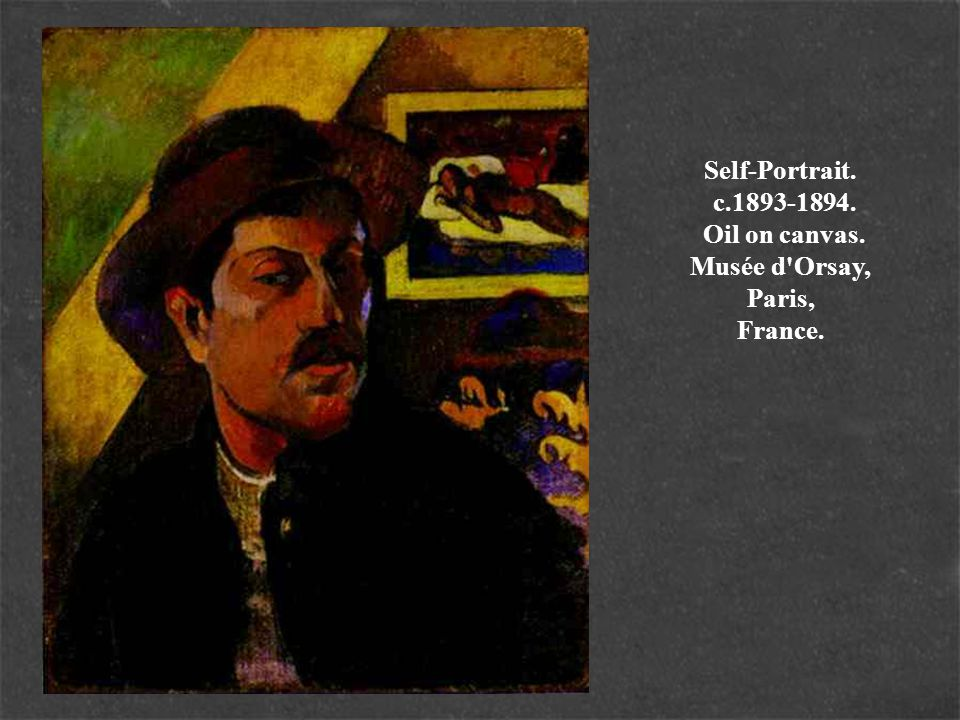 Self-Portrait. c. 1893-1894. Oil on canvas