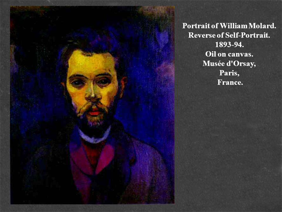 Portrait of William Molard. Reverse of Self-Portrait. 1893-94