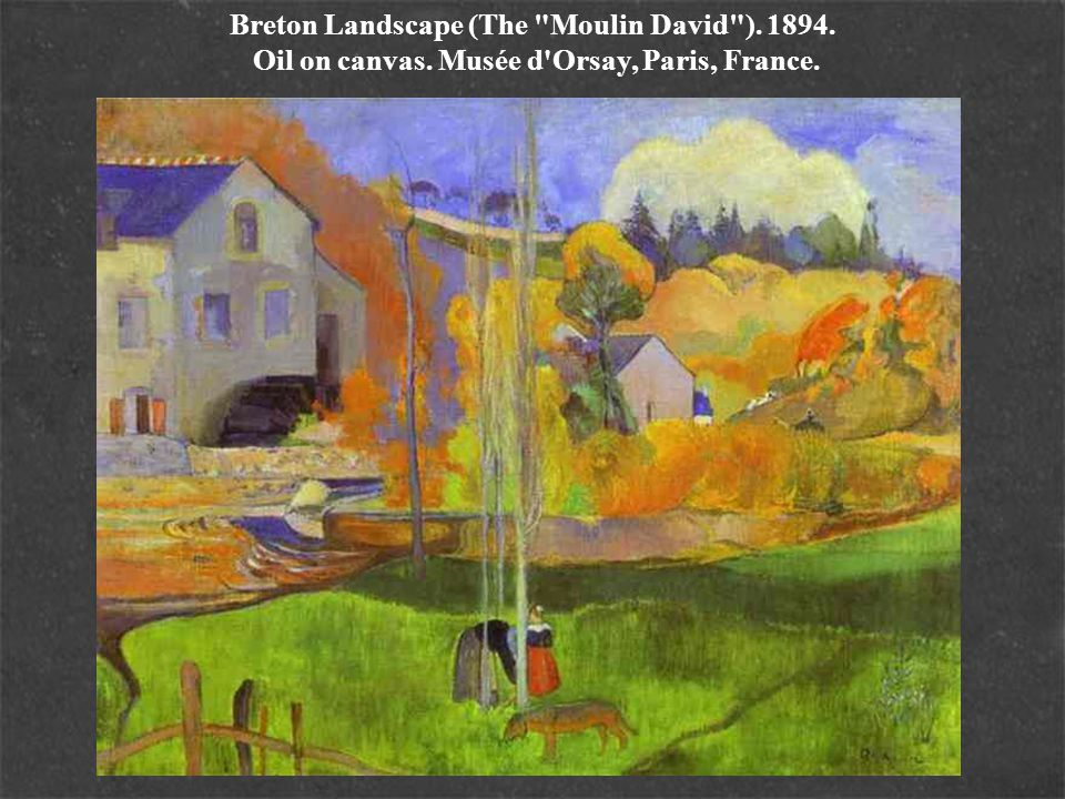 Breton Landscape (The Moulin David ). 1894. Oil on canvas