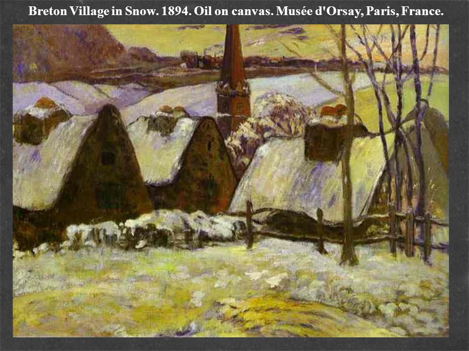 Breton Village in Snow. 1894. Oil on canvas