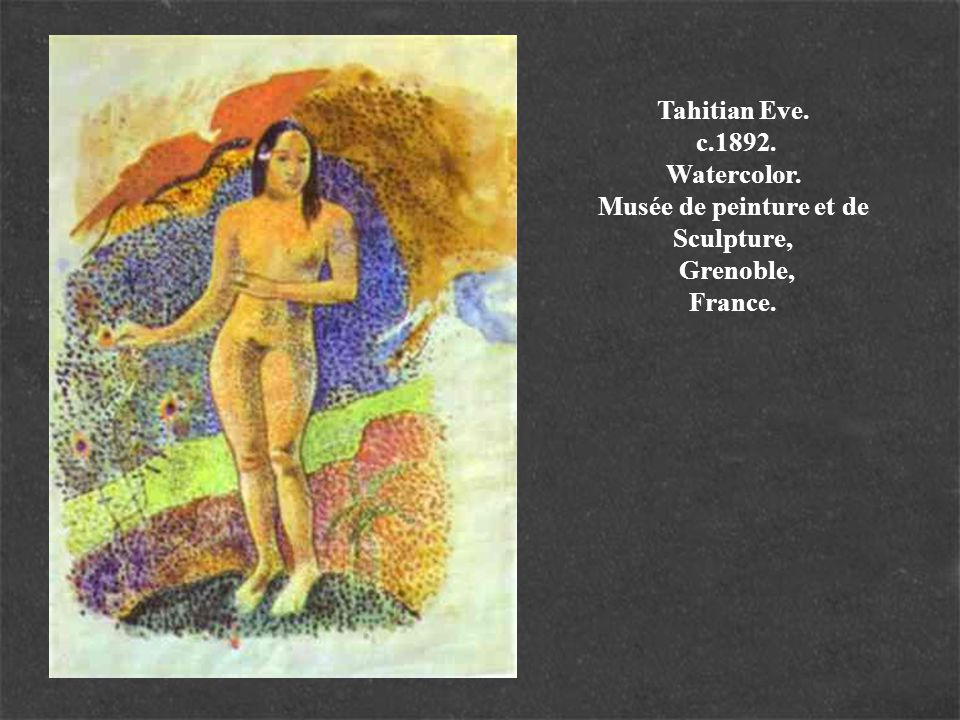 Tahitian Eve. c. 1892. Watercolor