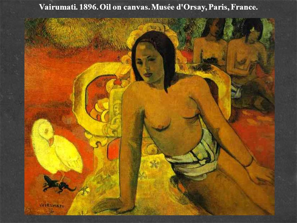 Vairumati. 1896. Oil on canvas. Musée d Orsay, Paris, France.