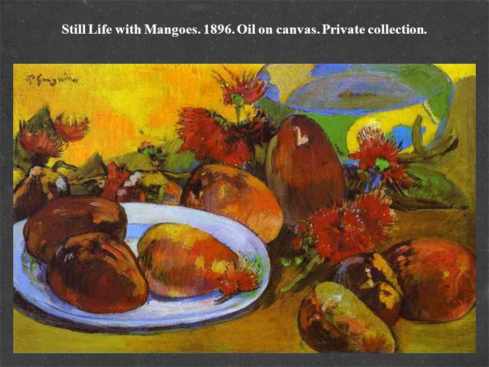 Still Life with Mangoes. 1896. Oil on canvas. Private collection.
