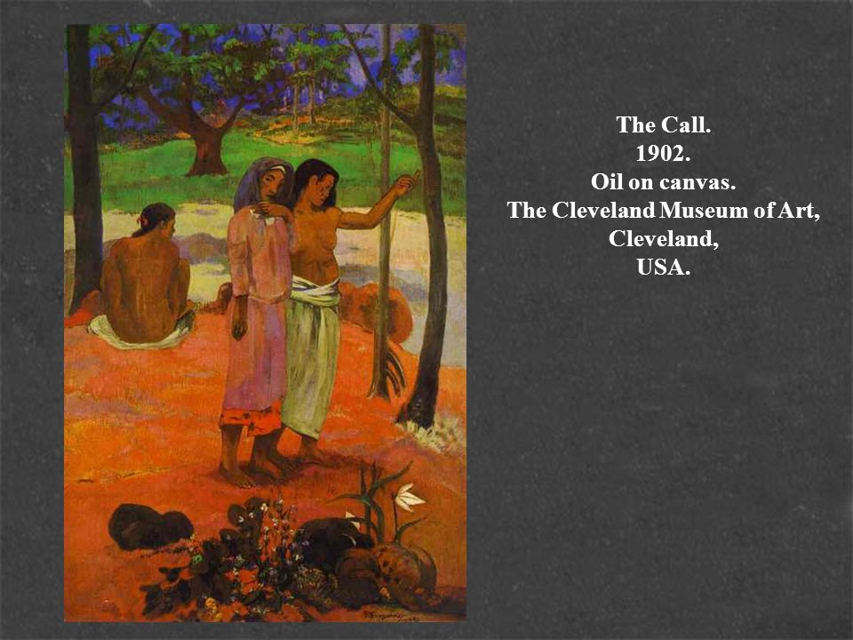 The Call. 1902. Oil on canvas. The Cleveland Museum of Art, Cleveland, USA.
