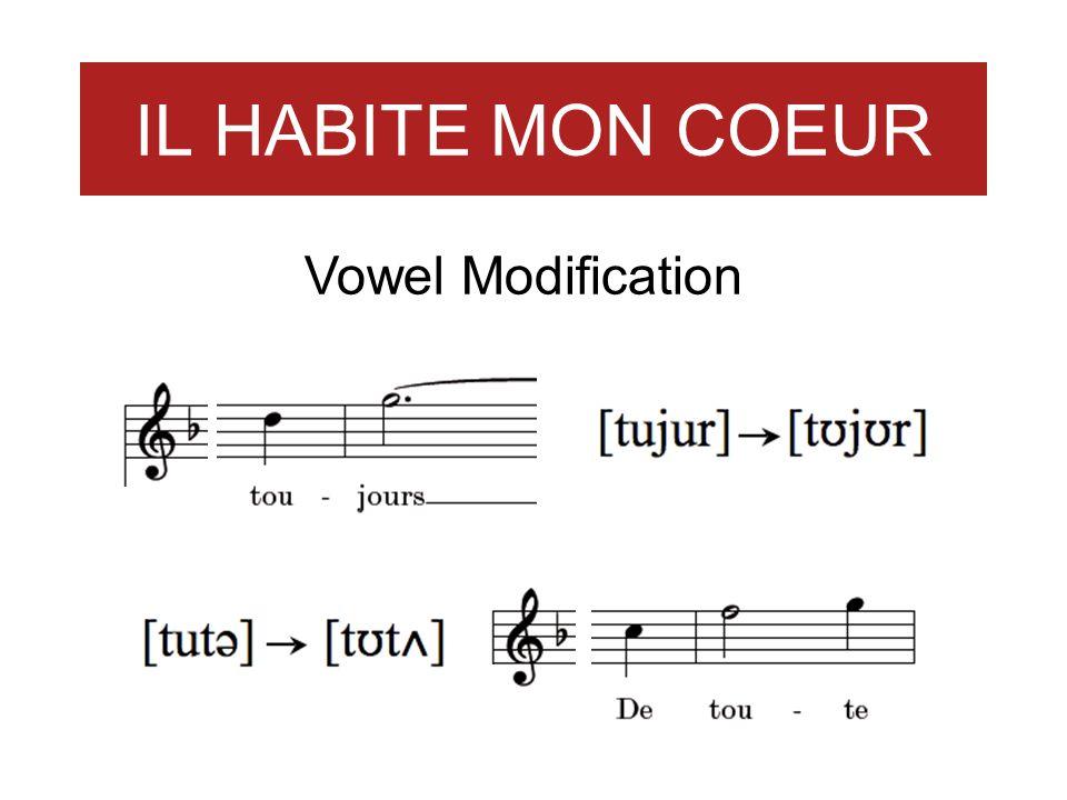 IL HABITE MON COEUR Vowel Modification