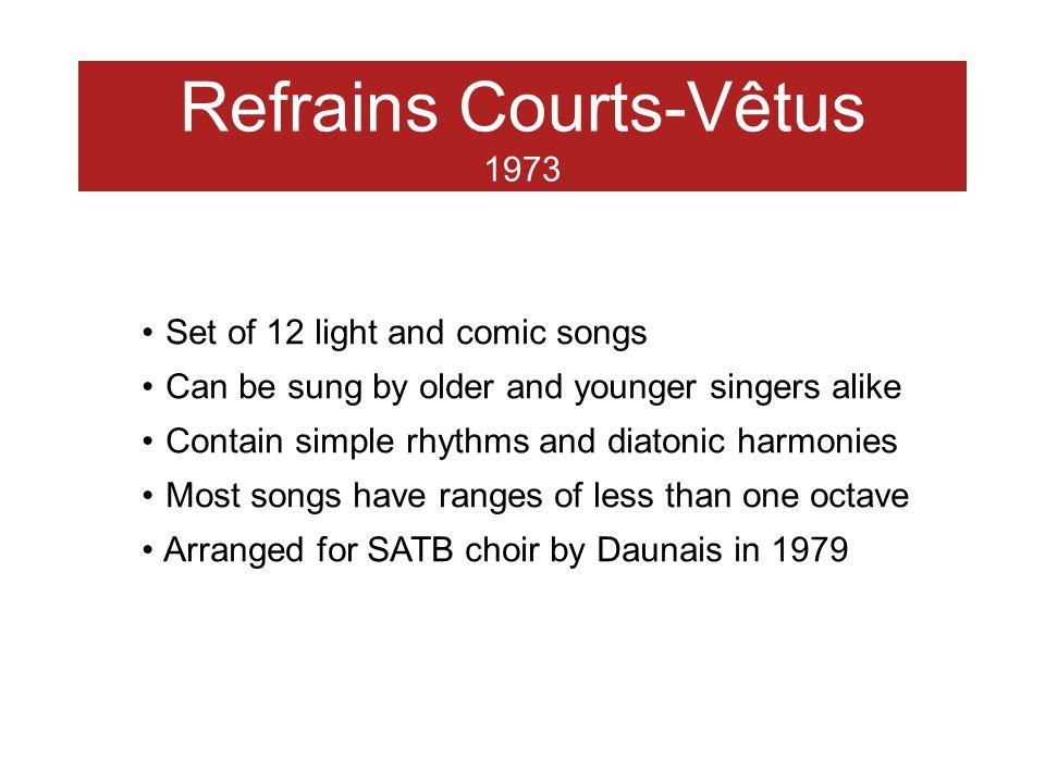 Refrains Courts-Vêtus 1973