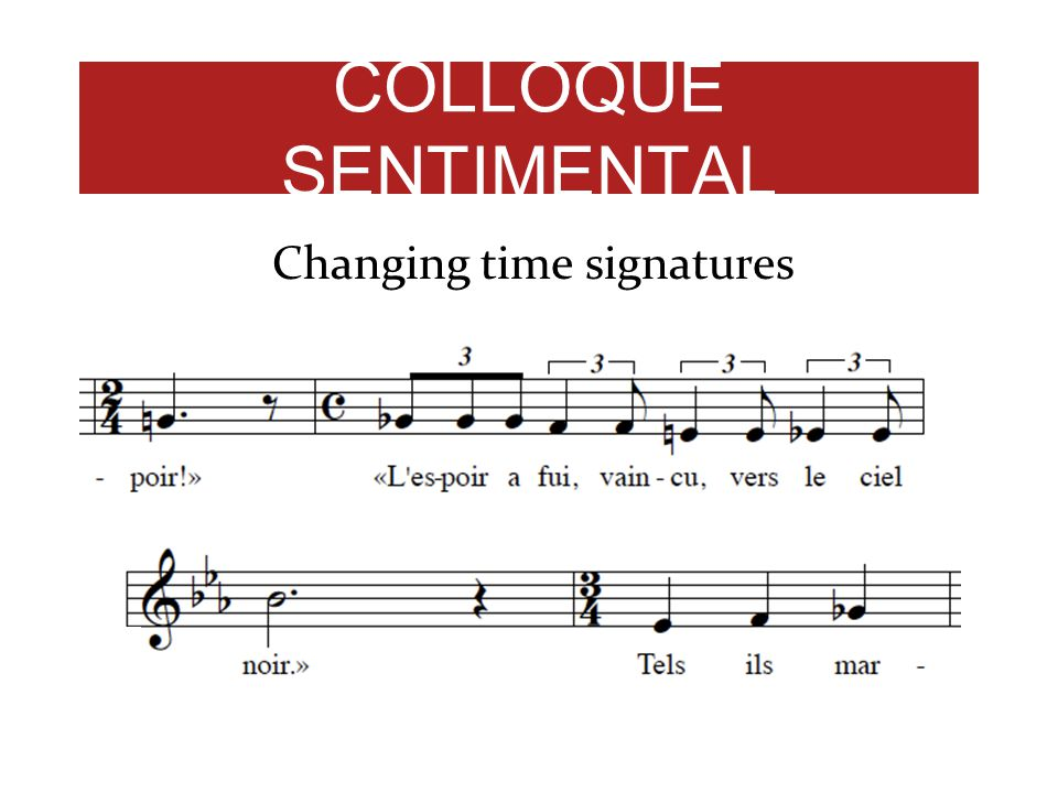 Changing time signatures