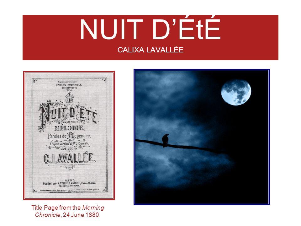 NUIT D'ÉtÉ CALIXA LAVALLÉE