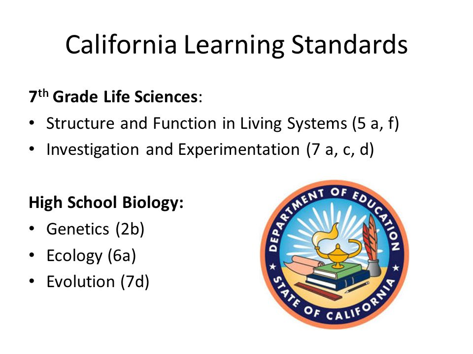 California Learning Standards