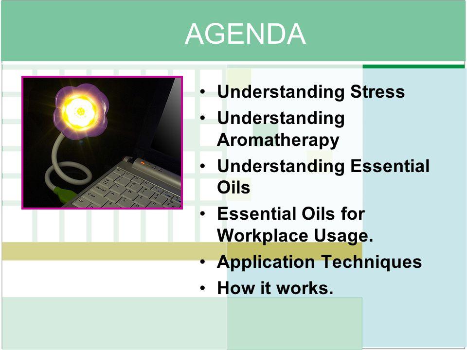 AGENDA Understanding Stress Understanding Aromatherapy