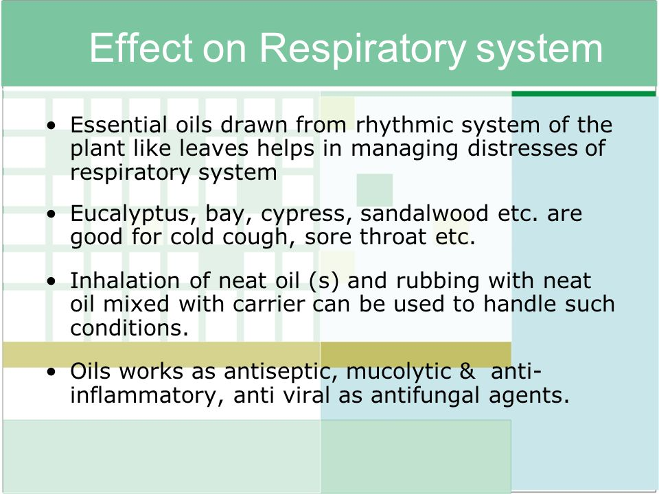 Effect on Respiratory system