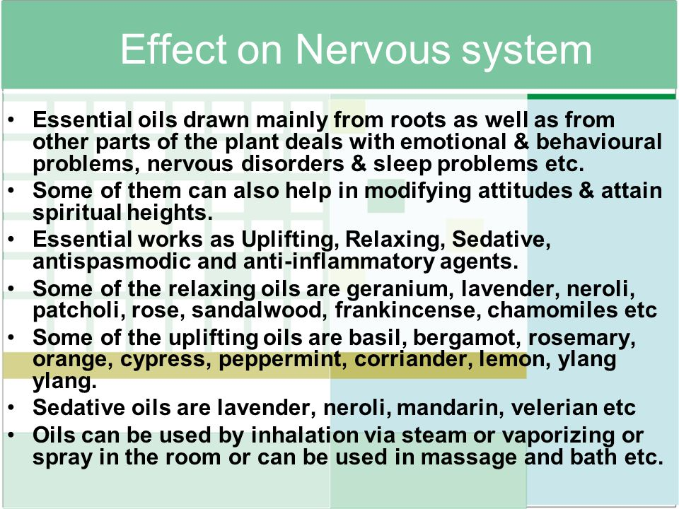 Effect on Nervous system
