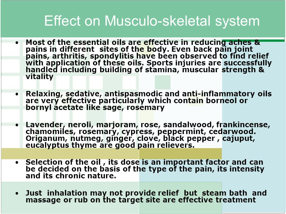 Effect on Musculo-skeletal system
