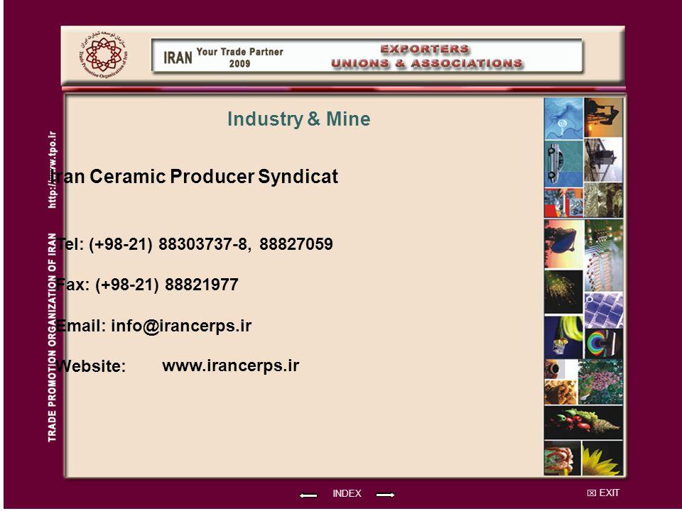 Iran Ceramic Producer Syndicat Industry & Mine