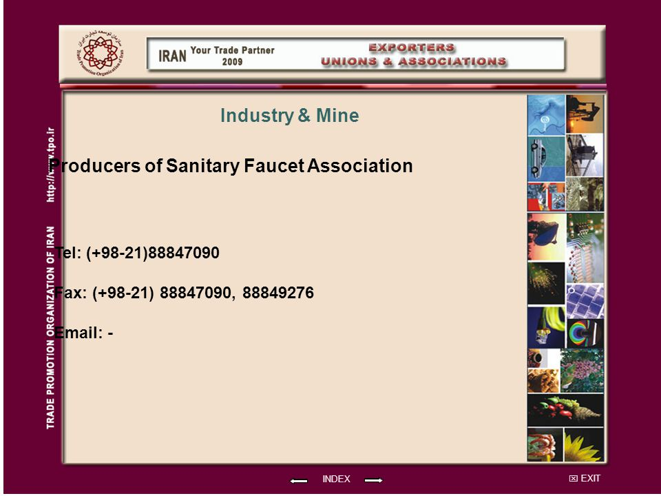 Producers of Sanitary Faucet Association Industry & Mine