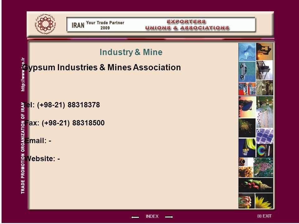 Gypsum Industries & Mines Association