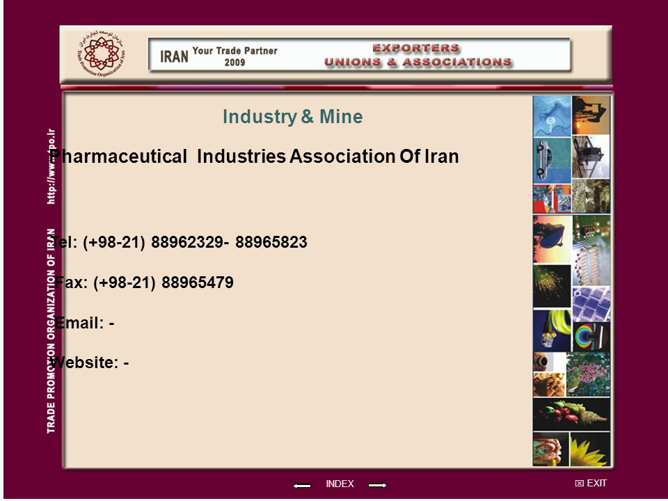 Pharmaceutical Industries Association Of Iran