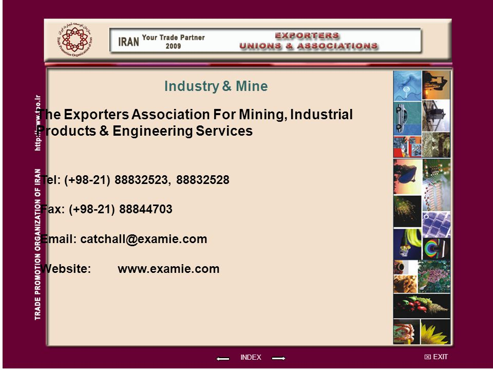 The Exporters Association For Mining, Industrial