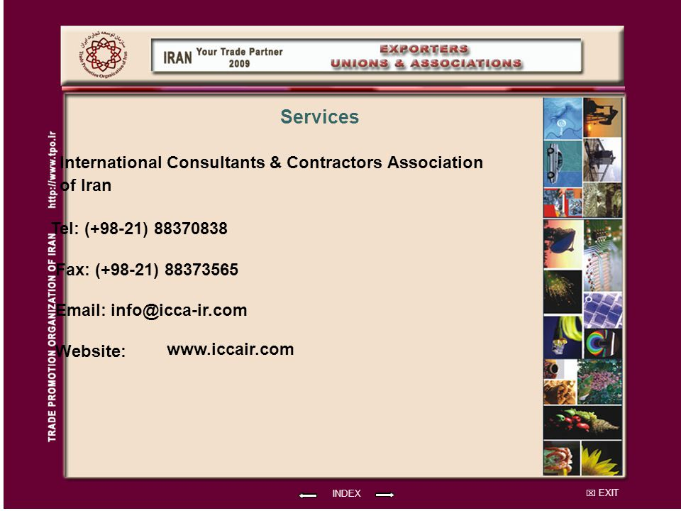 Services International Consultants & Contractors Association of Iran