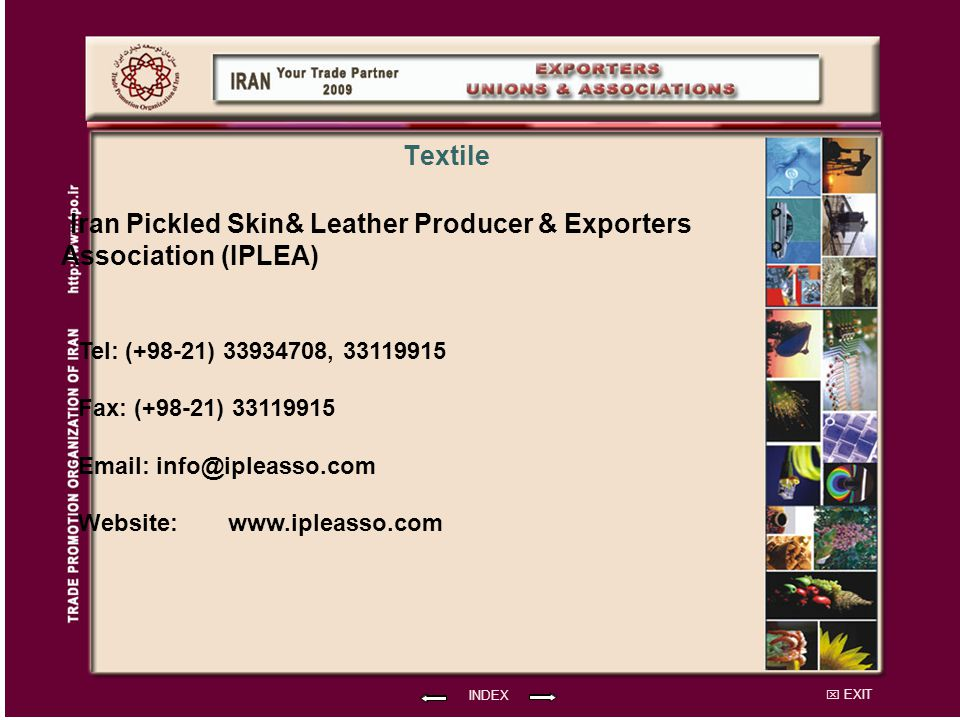 Iran Pickled Skin& Leather Producer & Exporters Association (IPLEA)
