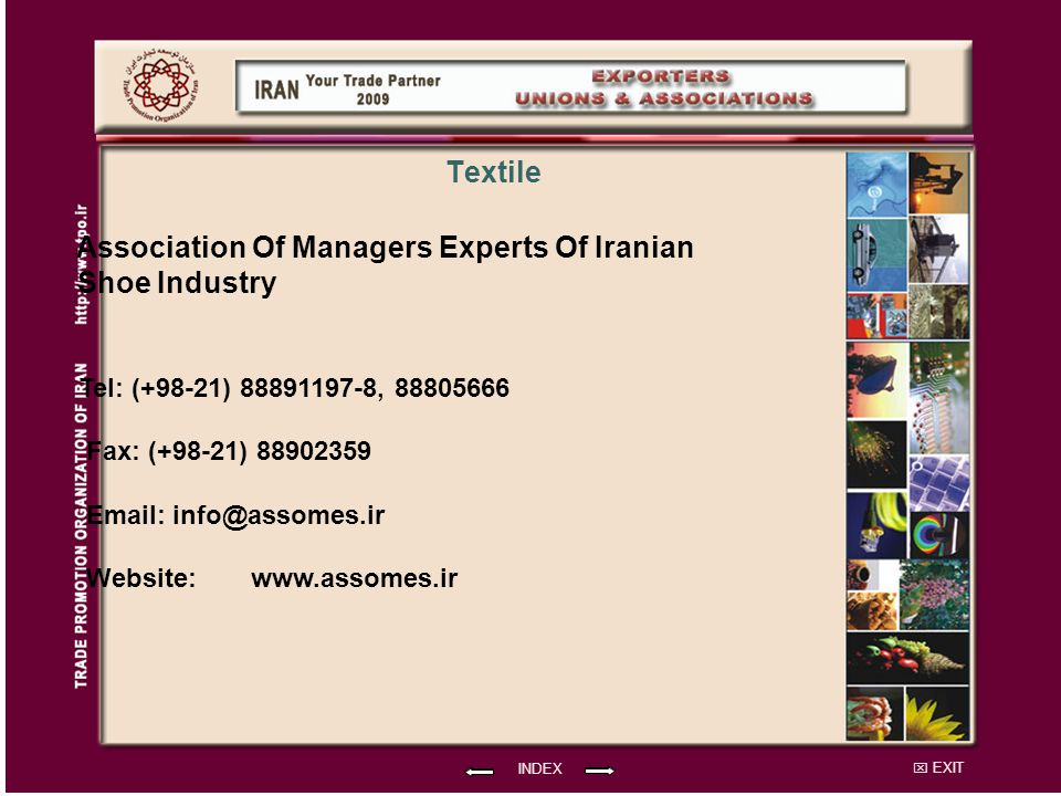 Association Of Managers Experts Of Iranian Shoe Industry Textile
