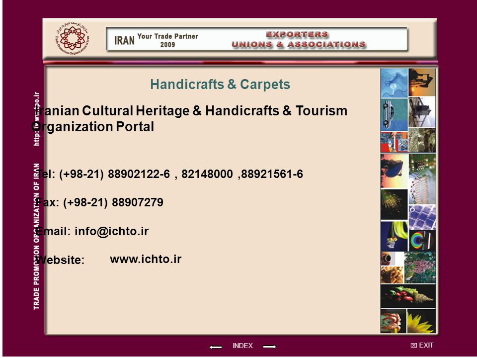 Iranian Cultural Heritage & Handicrafts & Tourism Organization Portal