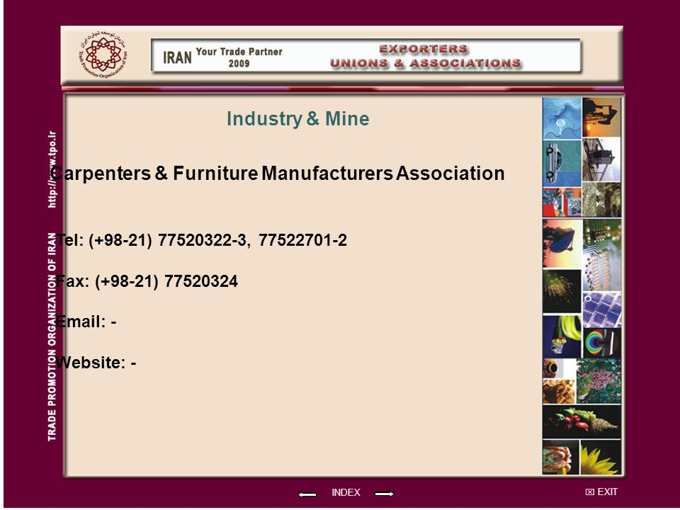 Carpenters & Furniture Manufacturers Association Industry & Mine