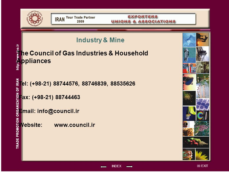 The Council of Gas Industries & Household Appliances Industry & Mine