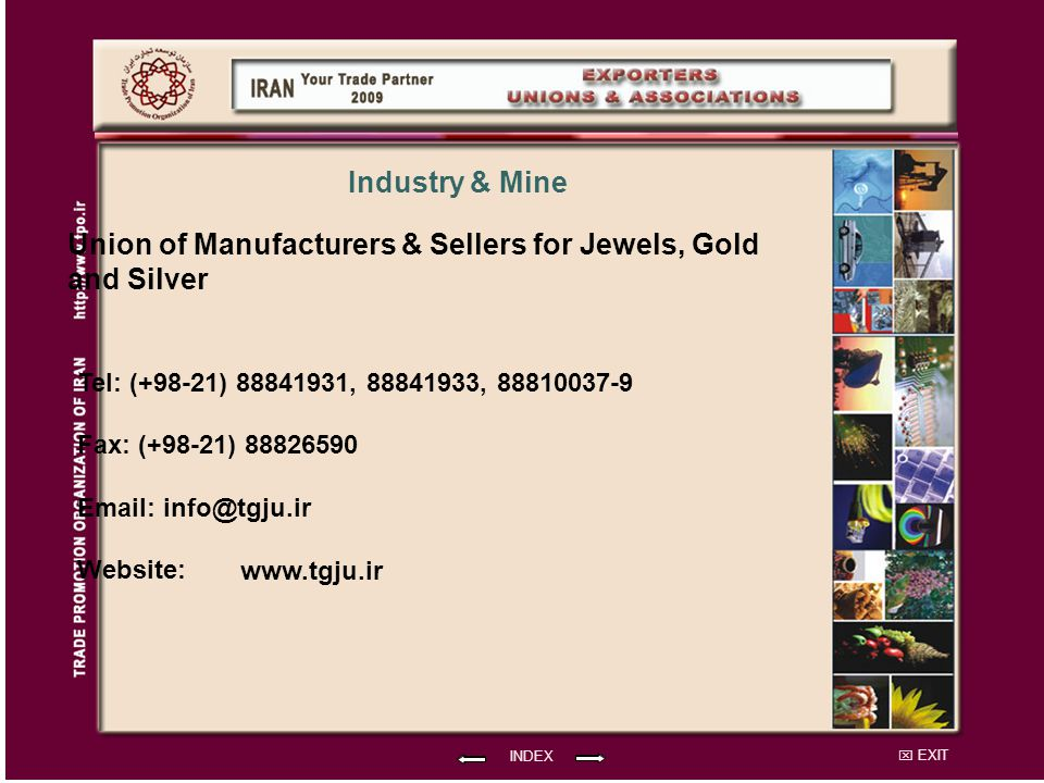 Union of Manufacturers & Sellers for Jewels, Gold and Silver