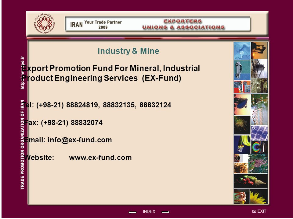 Export Promotion Fund For Mineral, Industrial