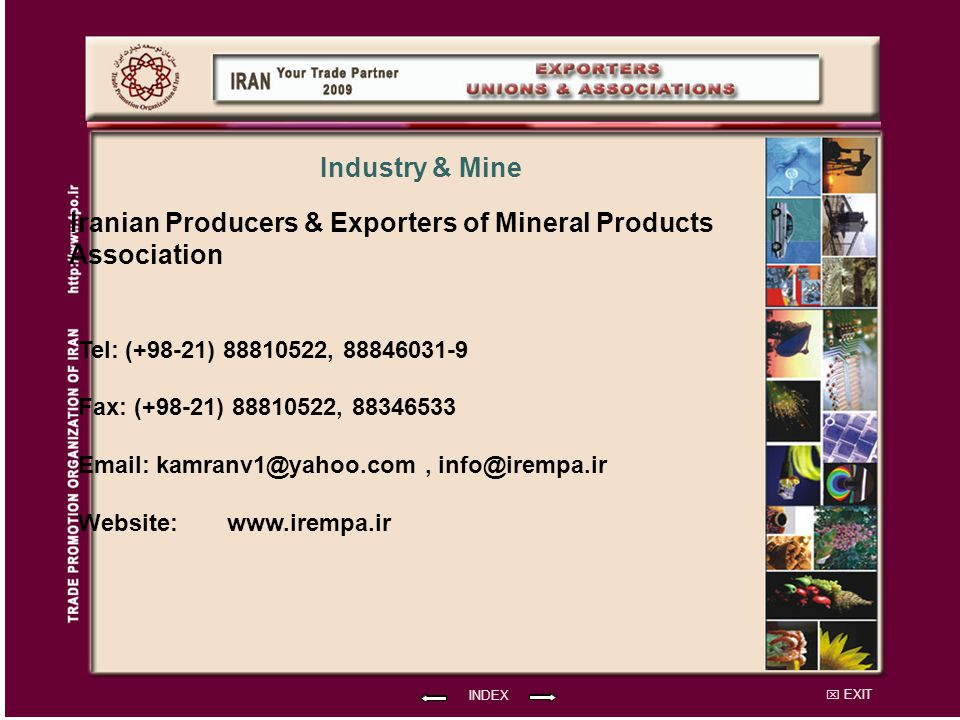 Iranian Producers & Exporters of Mineral Products Association