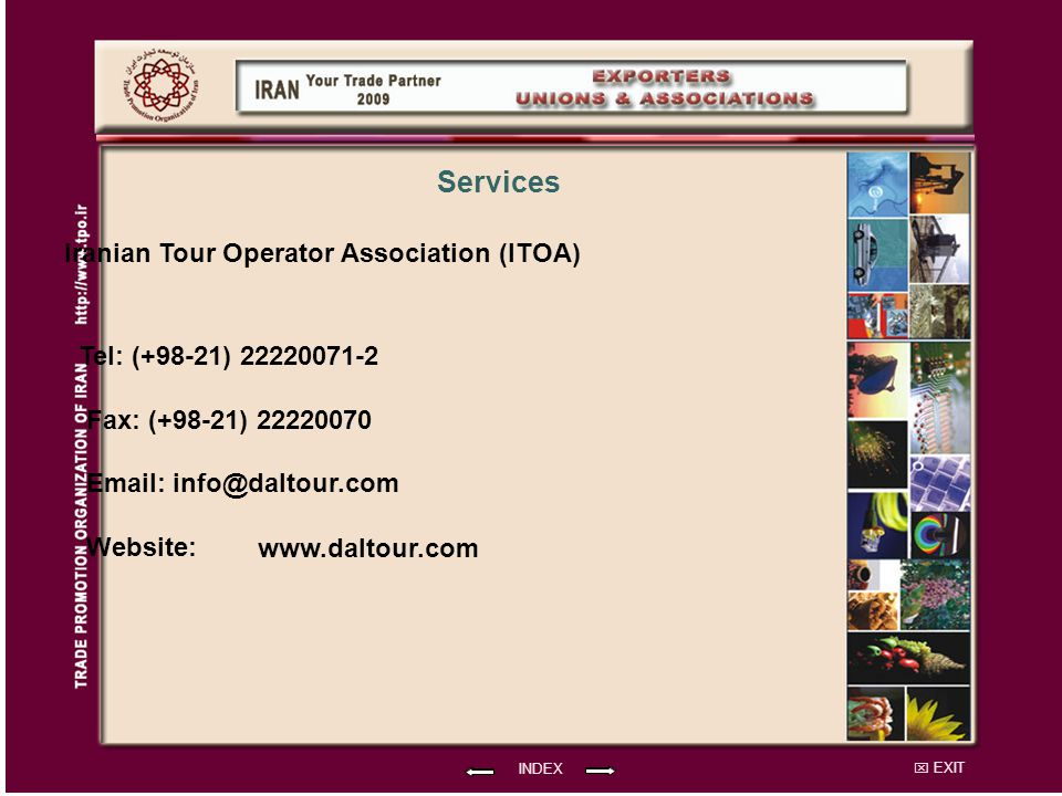 Services Iranian Tour Operator Association (ITOA)