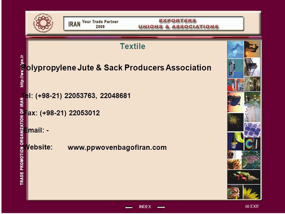 Polypropylene Jute & Sack Producers Association Textile