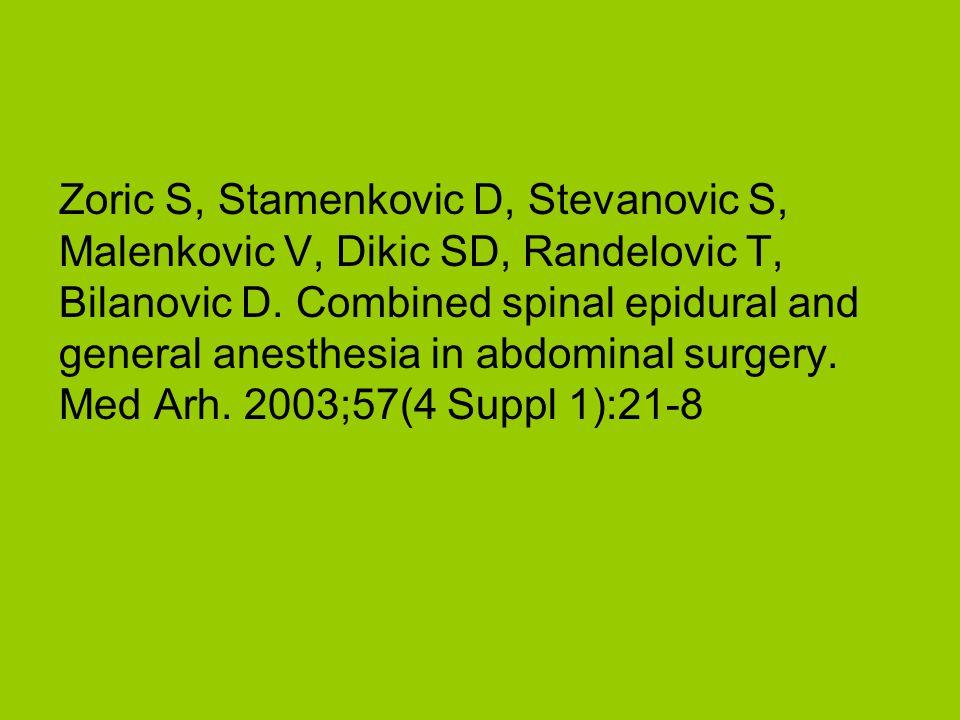 Zoric S, Stamenkovic D, Stevanovic S, Malenkovic V, Dikic SD, Randelovic T, Bilanovic D.