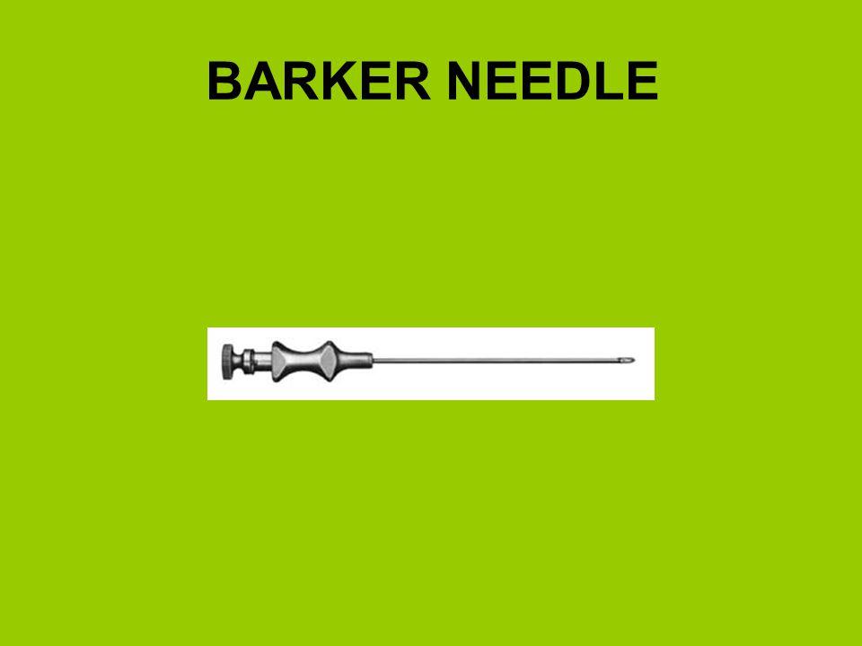 BARKER NEEDLE