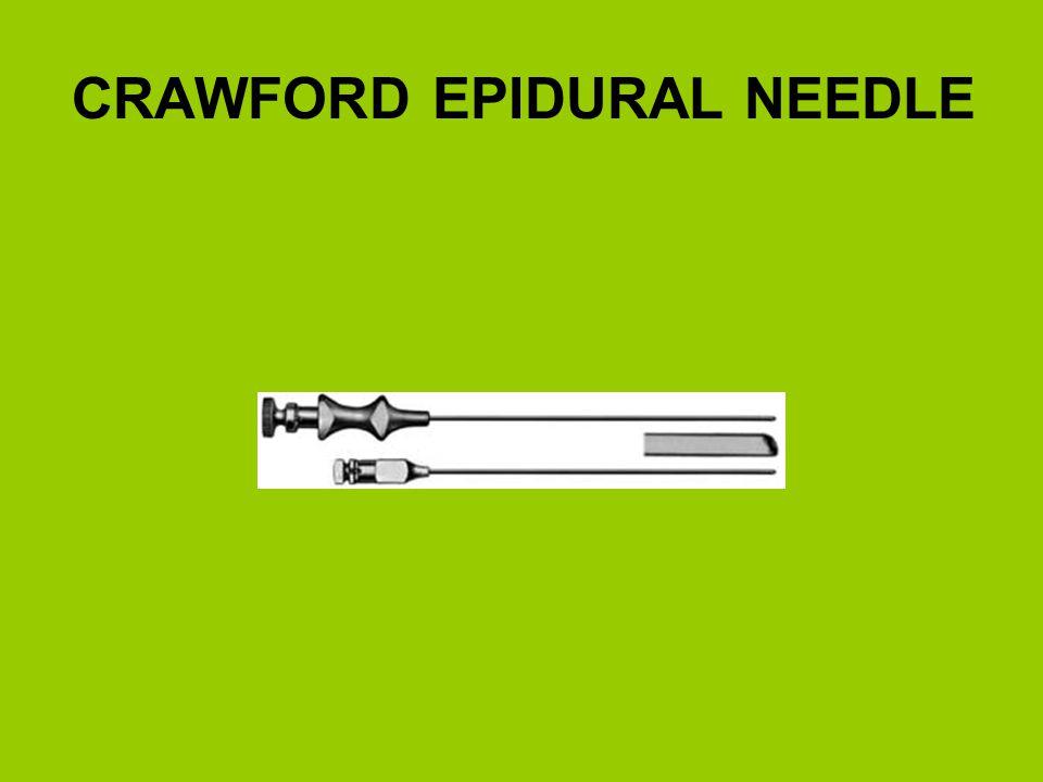 CRAWFORD EPIDURAL NEEDLE