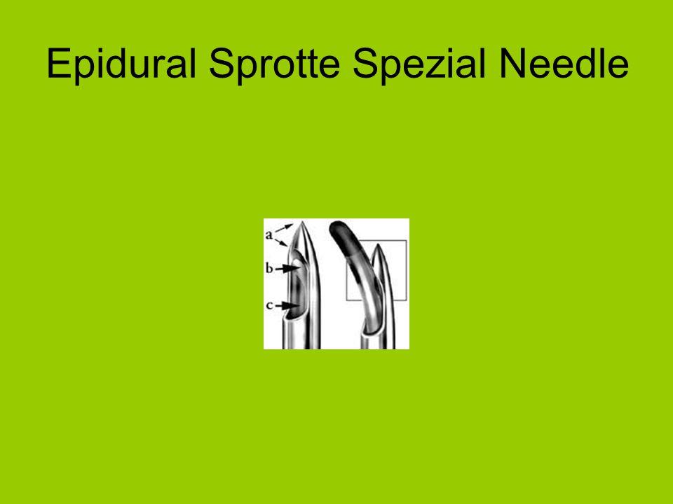 Epidural Sprotte Spezial Needle