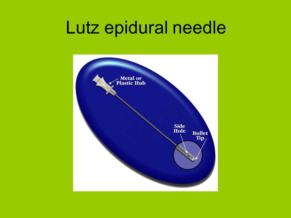 Lutz epidural needle