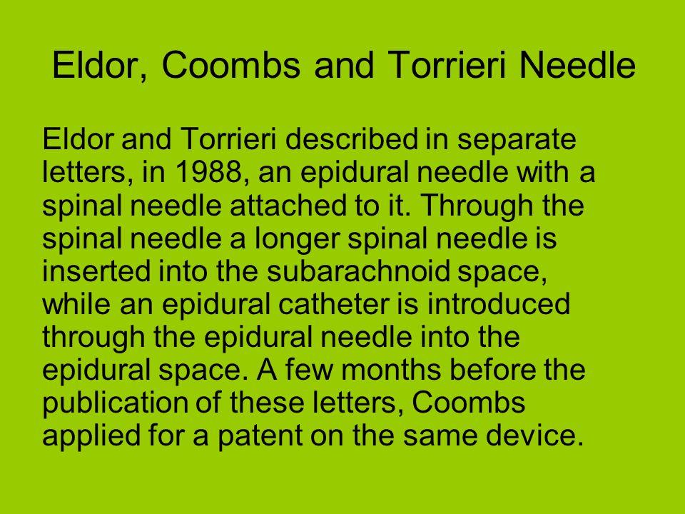 Eldor, Coombs and Torrieri Needle