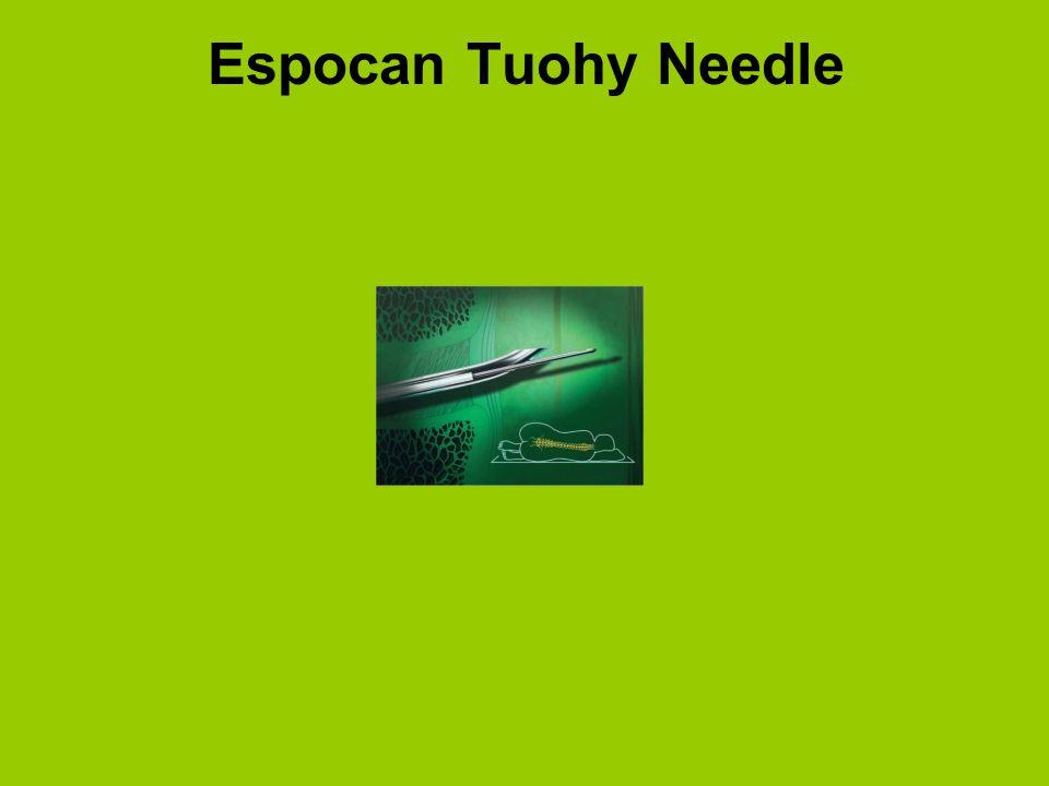 Espocan Tuohy Needle