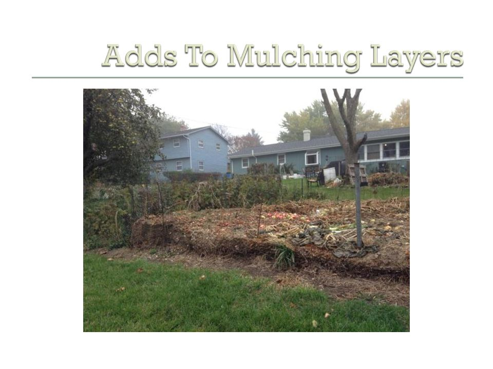 Adds To Mulching Layers