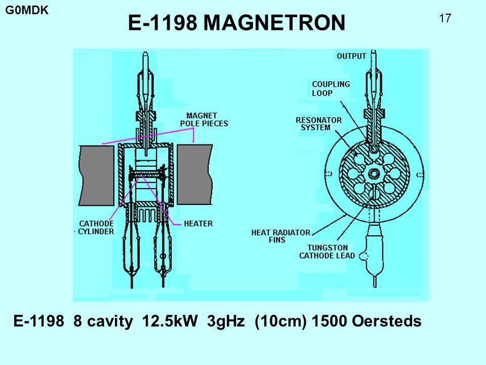 E-1198 MAGNETRON E-1198 8 cavity 12.5kW 3gHz (10cm) 1500 Oersteds
