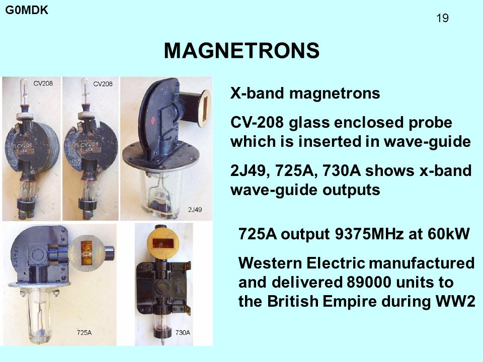 MAGNETRONS X-band magnetrons
