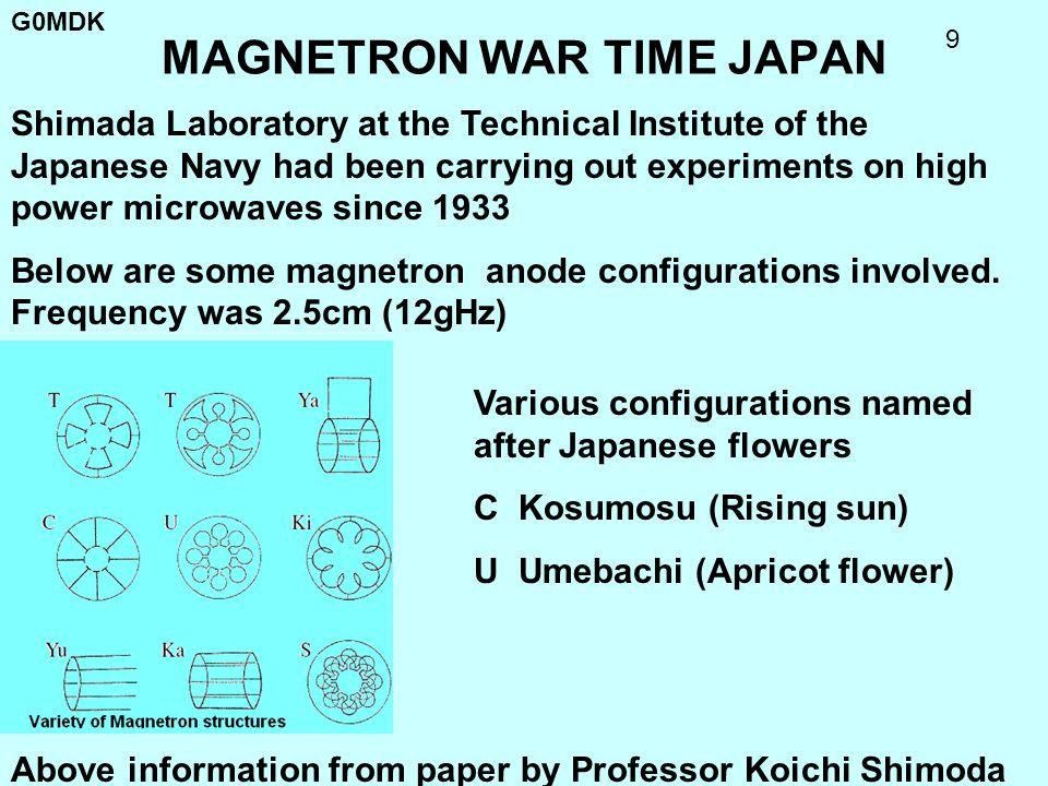 MAGNETRON WAR TIME JAPAN