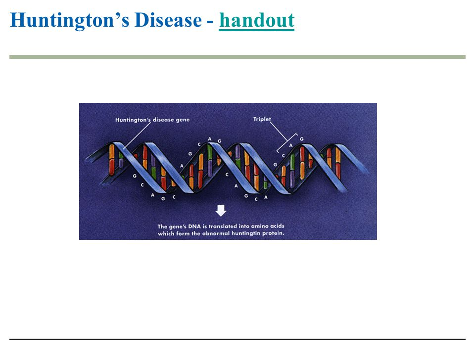 Huntington's Disease - handout