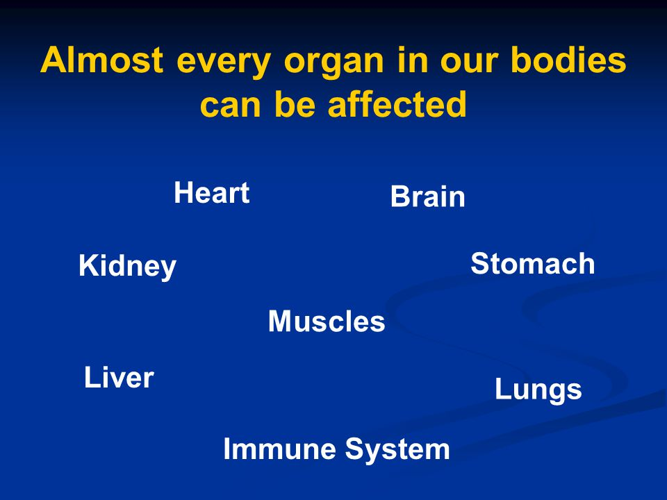 Almost every organ in our bodies can be affected