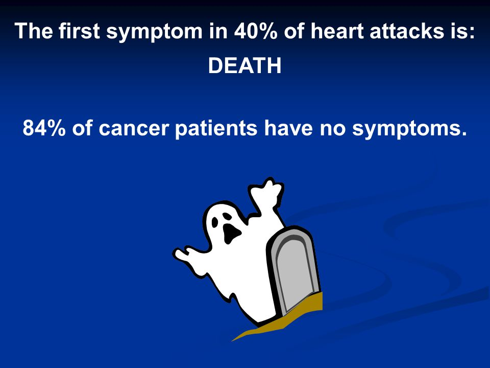The first symptom in 40% of heart attacks is: