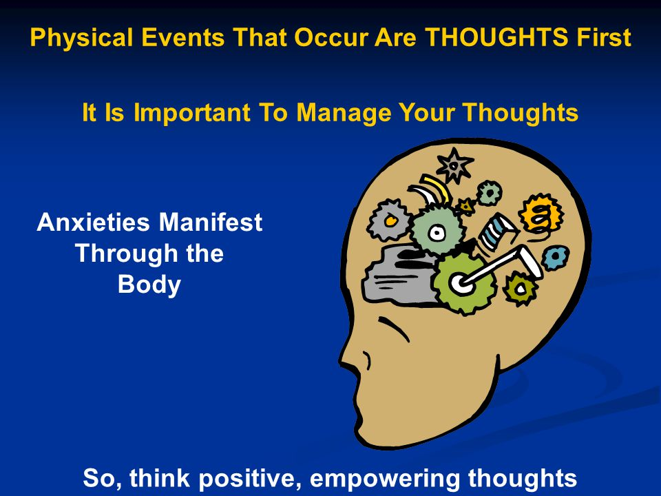 Physical Events That Occur Are THOUGHTS First