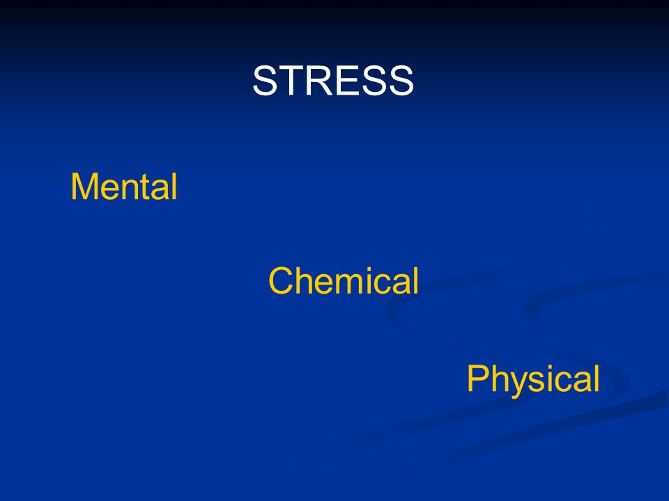 STRESS Mental Chemical Physical