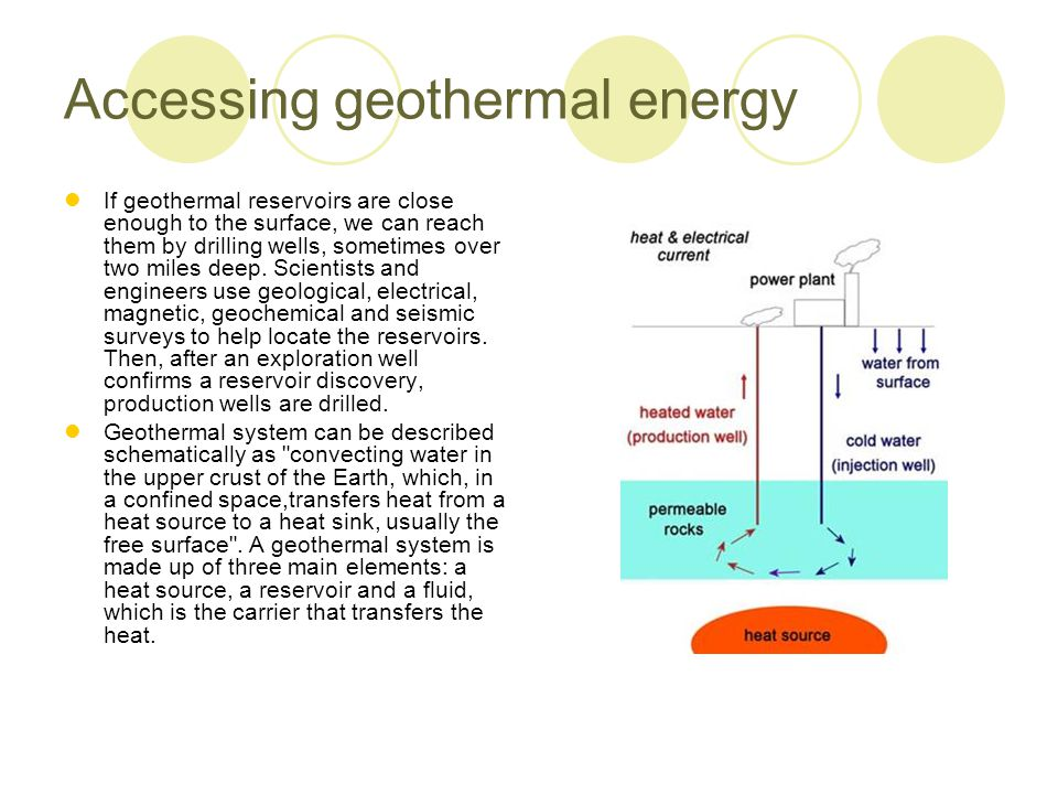 Accessing geothermal energy